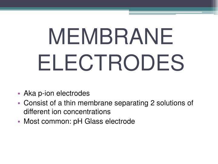 MEMBRANE ELECTRODES