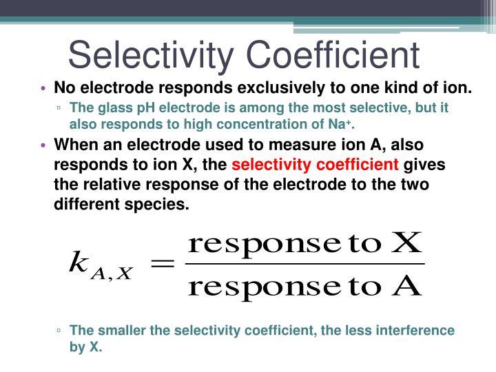 Selectivity Coefficient