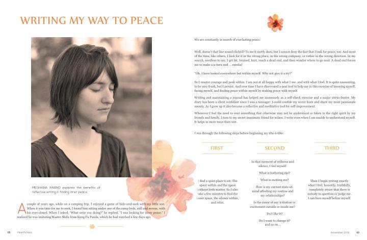 Writing My Way to Peace