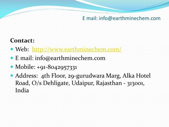 E mail: info@earthminechem.com