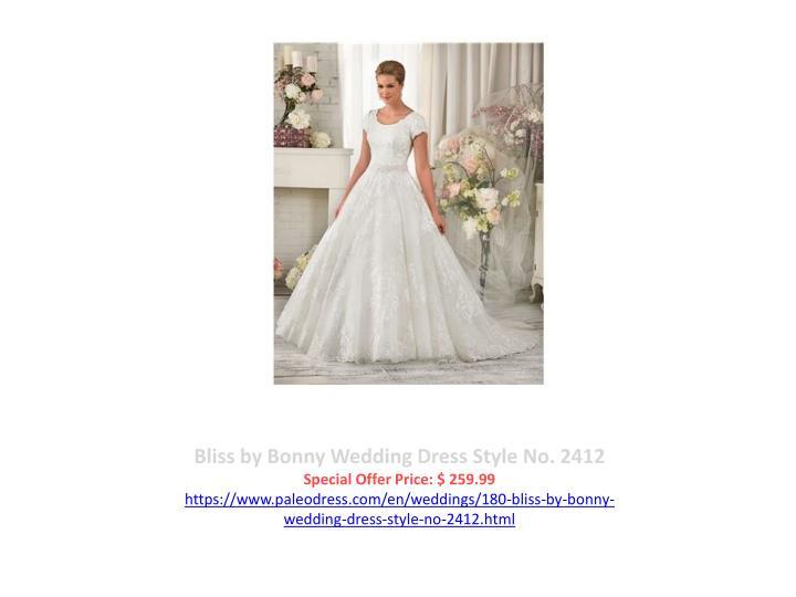 Bliss by Bonny Wedding Dress Style No. 2412