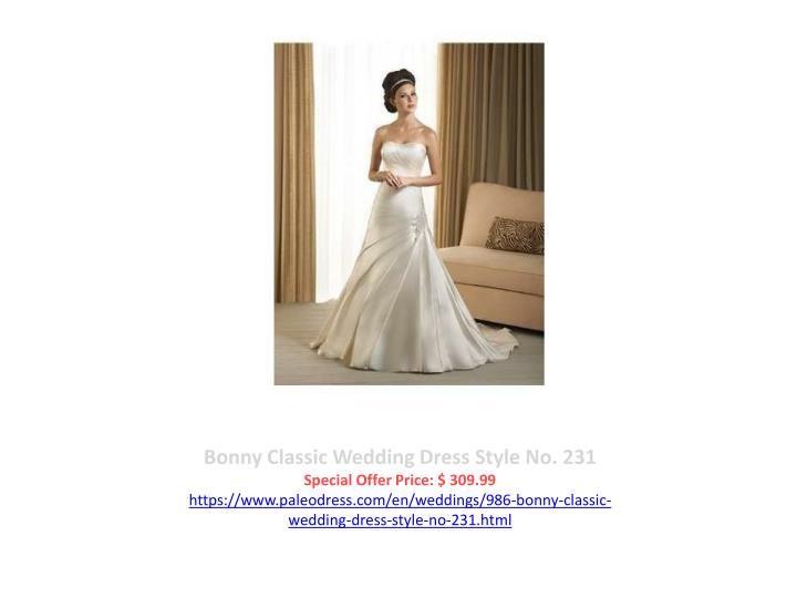 Bonny Classic Wedding Dress Style No. 231