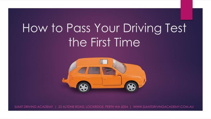 How to pass your driving test the first time