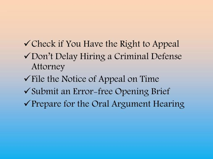 Check if You Have the Right to Appeal