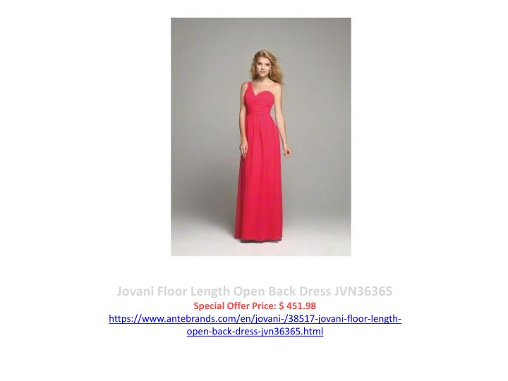 Jovani Floor Length Open Back Dress JVN36365