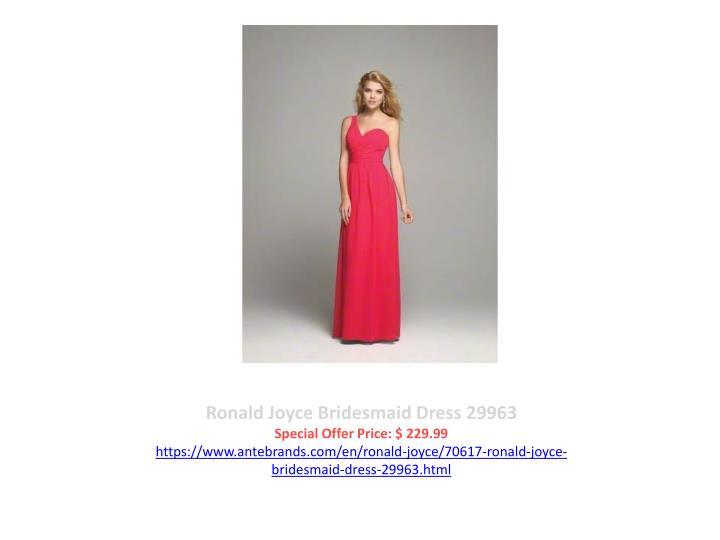 Ronald Joyce Bridesmaid Dress 29963