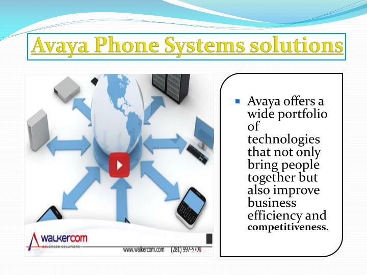 Avaya Phone Systems solutions