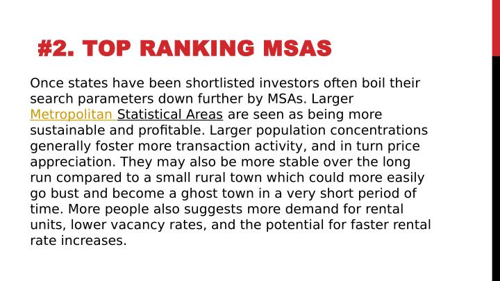 #2.TOP RANKING MSAS