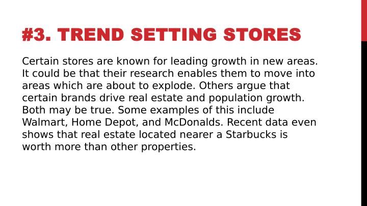 #3. TREND SETTING STORES