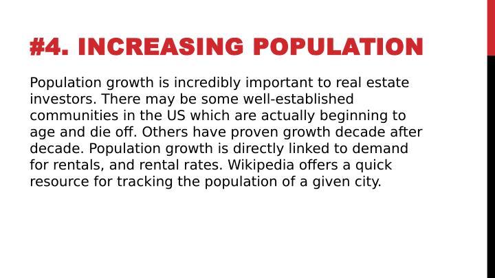 #4. INCREASING POPULATION