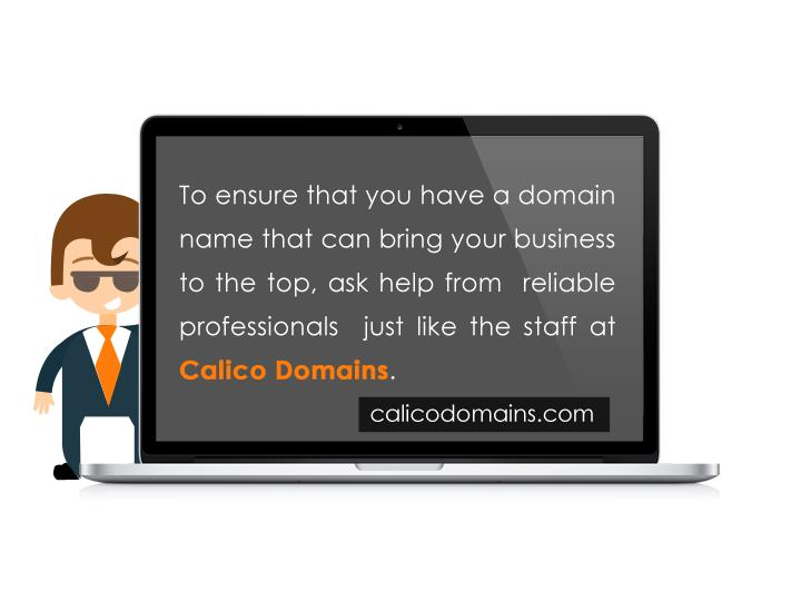 To ensure that you have a domain name that can bring your business to the top, ask help from