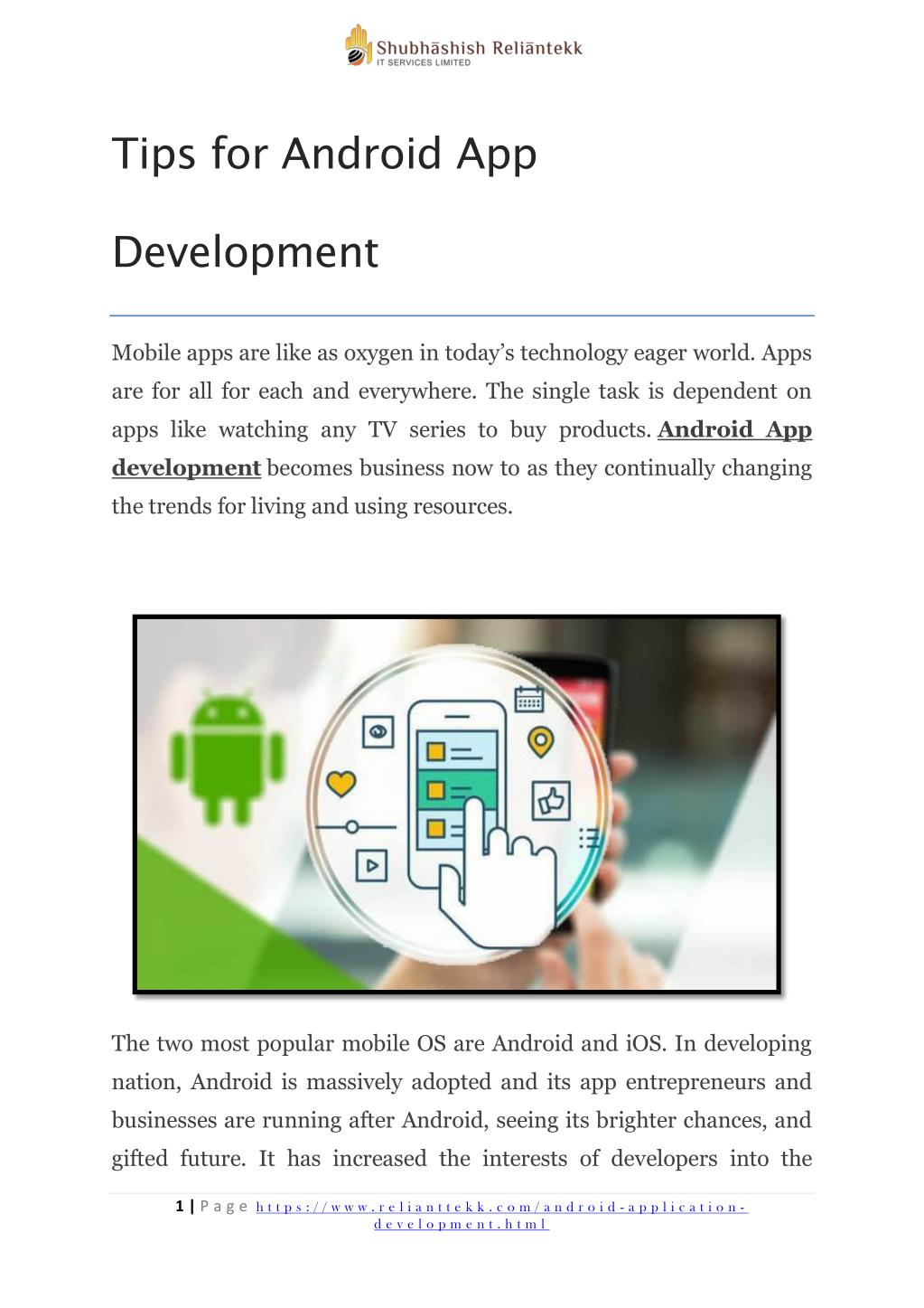 PPT - Tips for android app development PowerPoint