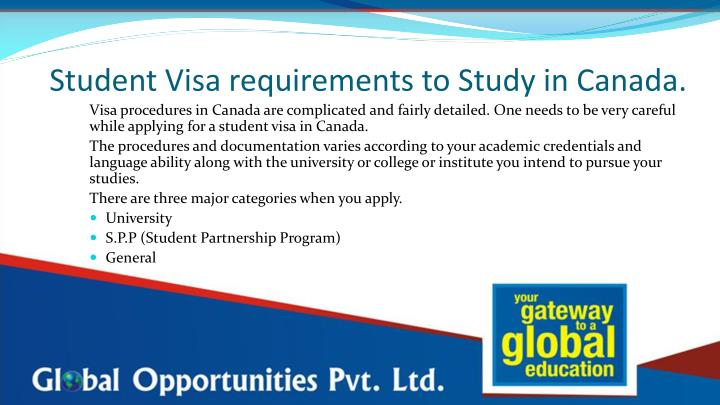 Student visa requirements to study in canada1
