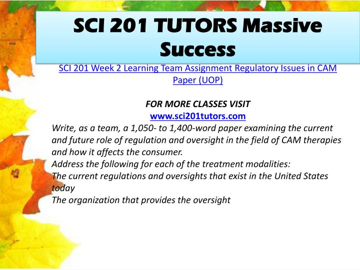 SCI 201 TUTORS Massive Success