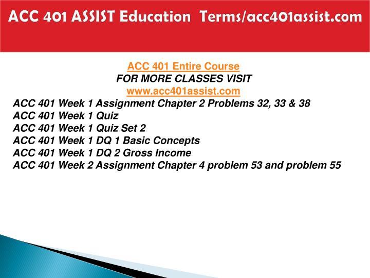Acc 401 assist education terms acc401assist com1