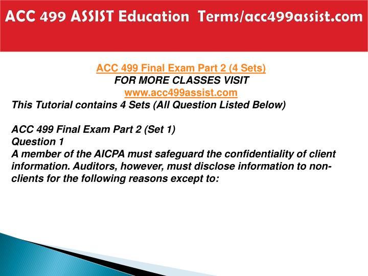 Acc 499 assist education terms acc499assist com2