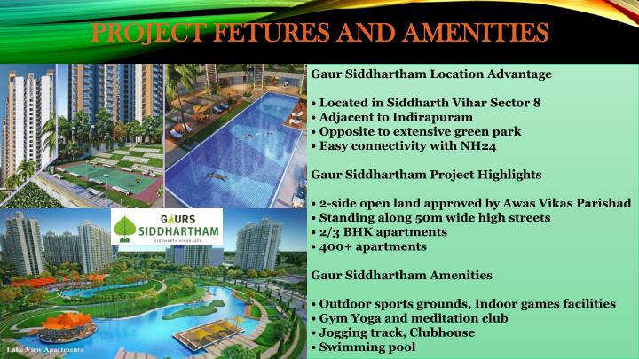PROJECT FETURES AND AMENITIES