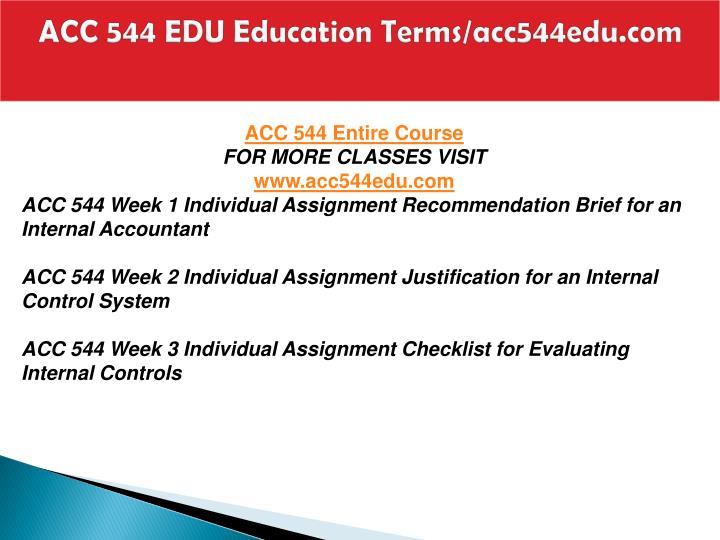 Acc 544 edu education terms acc544edu com1