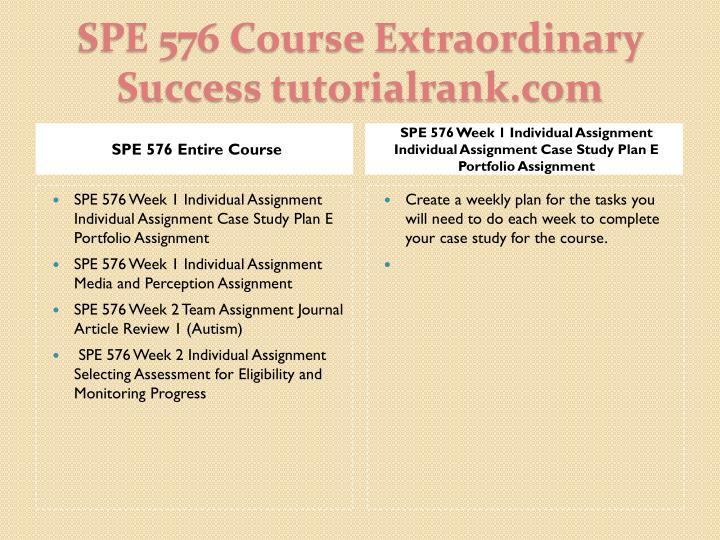 Spe 576 course extraordinary success tutorialrank com1