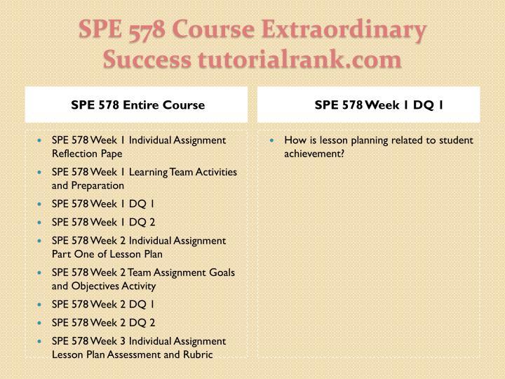 Spe 578 course extraordinary success tutorialrank com1
