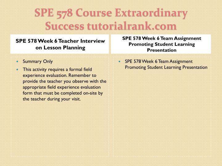 SPE 578 Week 6 Teacher Interview on Lesson Planning