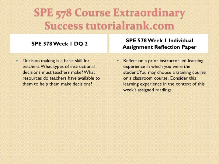 Spe 578 course extraordinary success tutorialrank com2