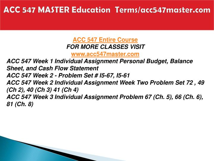 Acc 547 master education terms acc547master com1