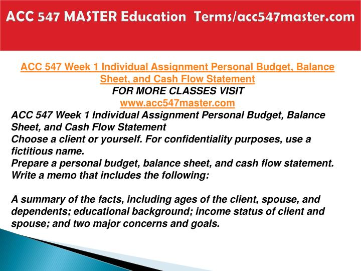 Acc 547 master education terms acc547master com2