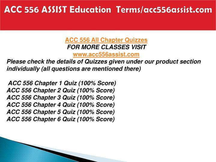 Acc 556 assist education terms acc556assist com1