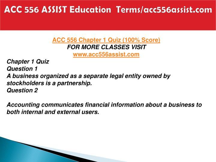 Acc 556 assist education terms acc556assist com2