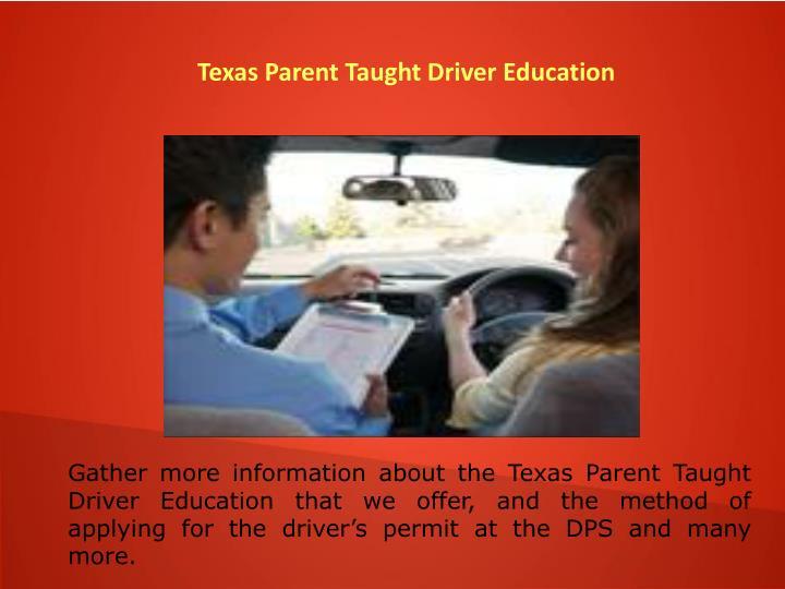 Texas Parent Taught Driver Education
