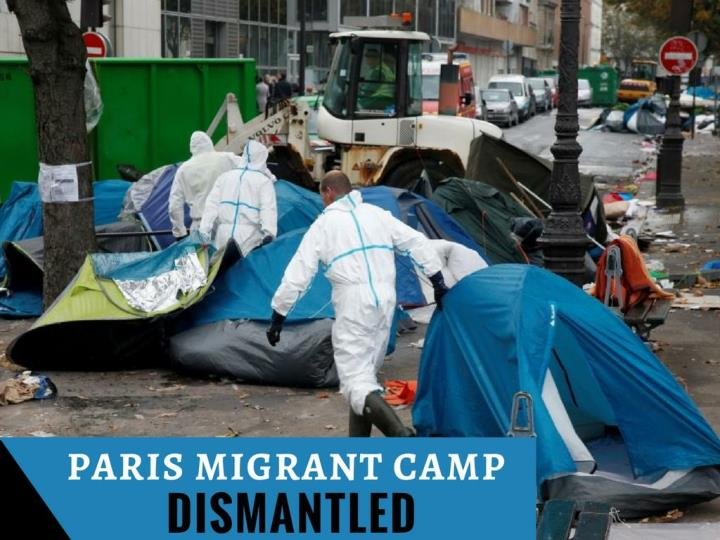 paris transient camp dismantled n.