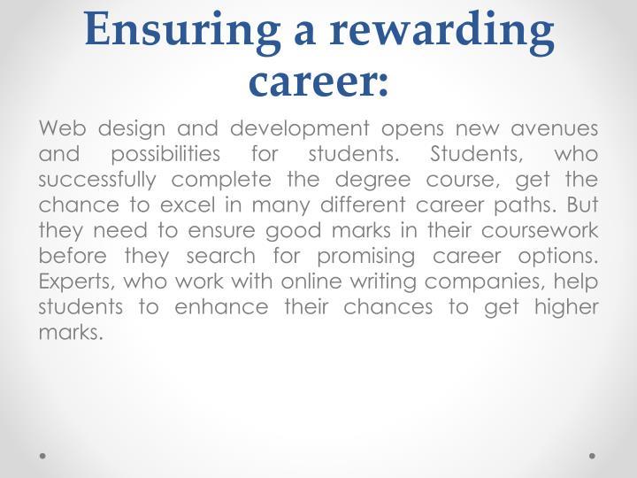 Ensuring a rewarding career: