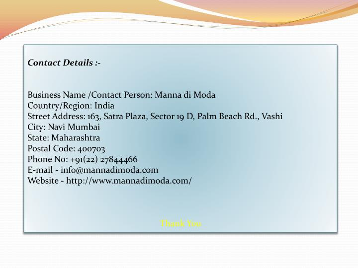 Contact Details :-