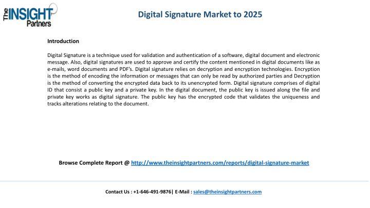 Digital Signature Market to 2025