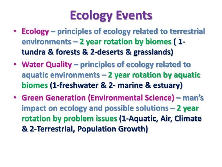 Ecology events