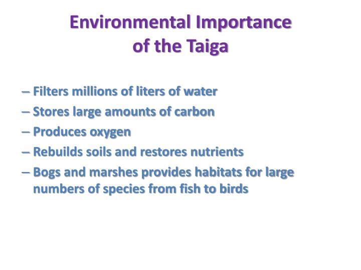Environmental Importance