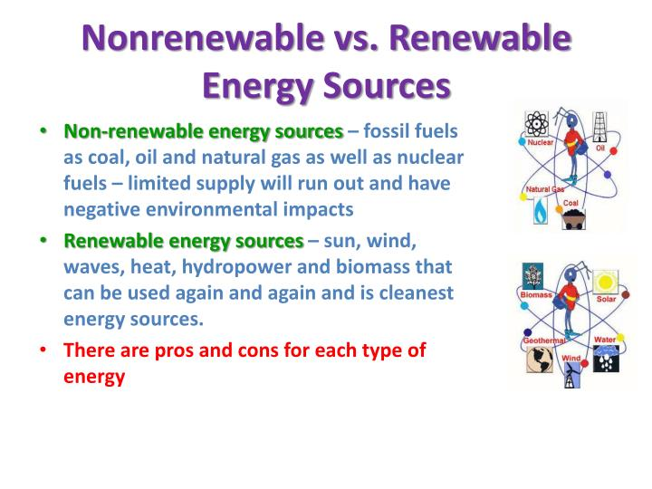Nonrenewable vs. Renewable Energy Sources