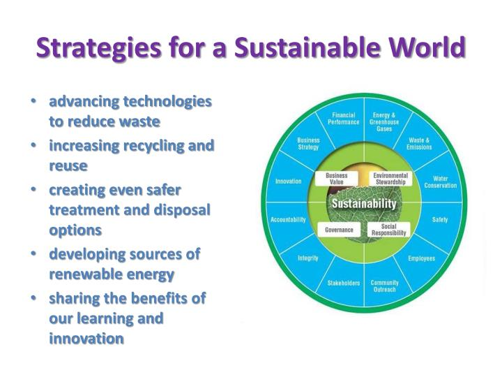 Strategies for a Sustainable World