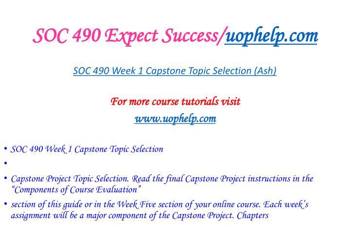 Soc 490 expect success uophelp com2