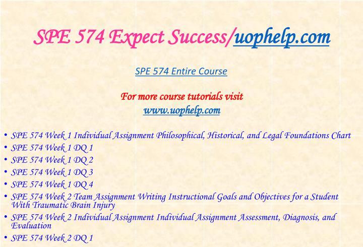 Spe 574 expect success uophelp com1