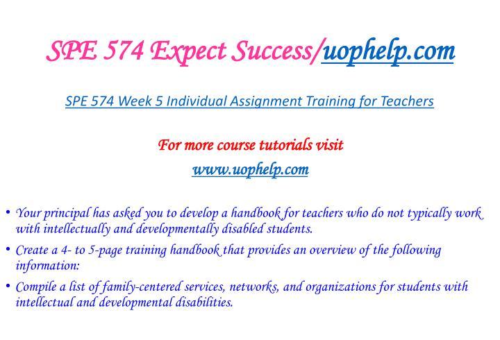 SPE 574 Expect Success/