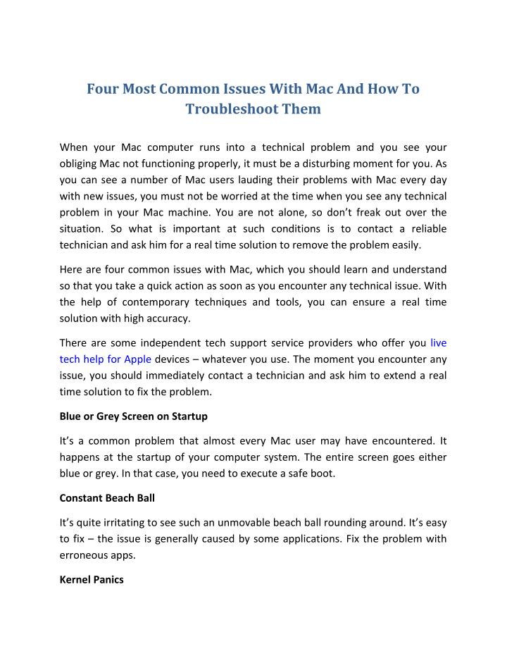 Four Most Common Issues With Mac And How To