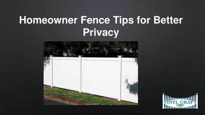 Homeowner Fence Tips for Better Privacy
