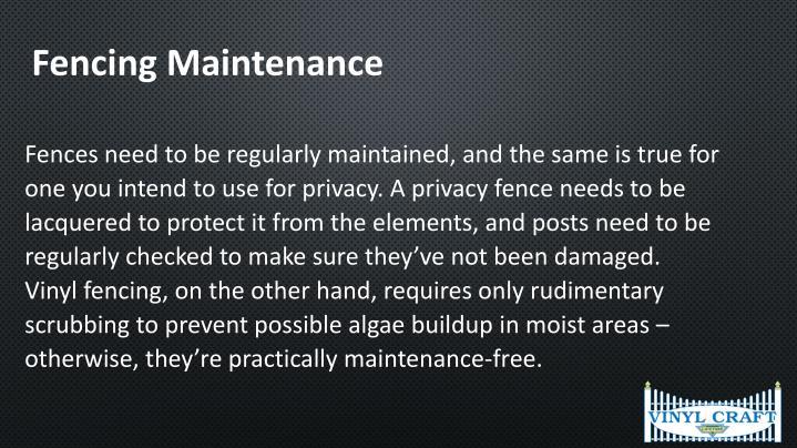 Fencing Maintenance