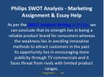 philips swot analysis marketing assignment essay help