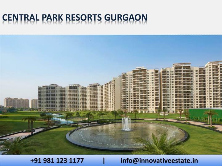 Central park resorts gurgaon