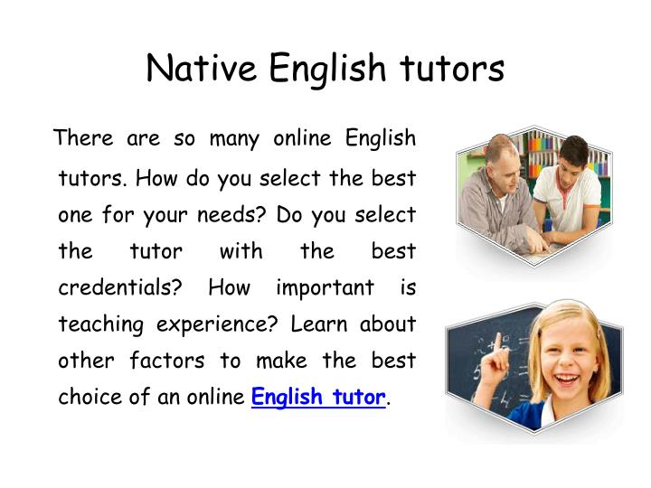 Native english tutors