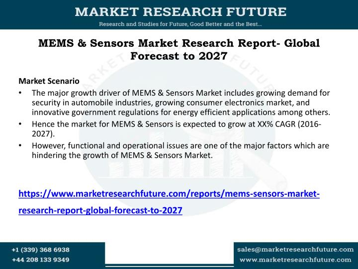 mems sensors market research report global forecast to 2027