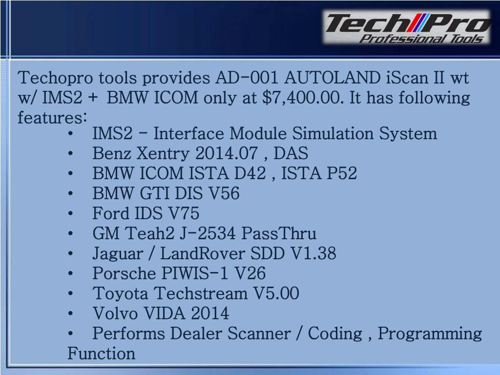PPT - Autoland iscan ii wt diagnostic scanner PowerPoint